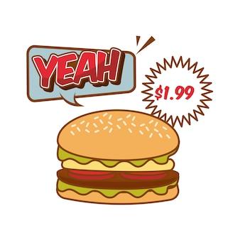 Pop art de fast food