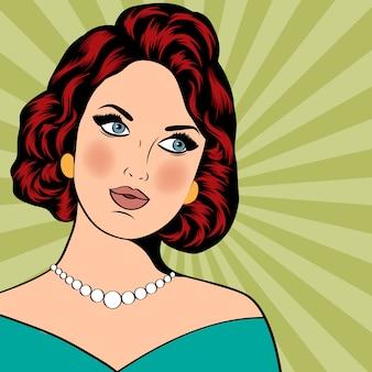 Pop art ilustração de mulher