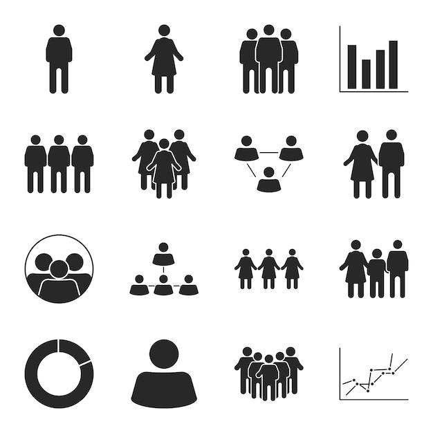 População de pictograma e infográfico