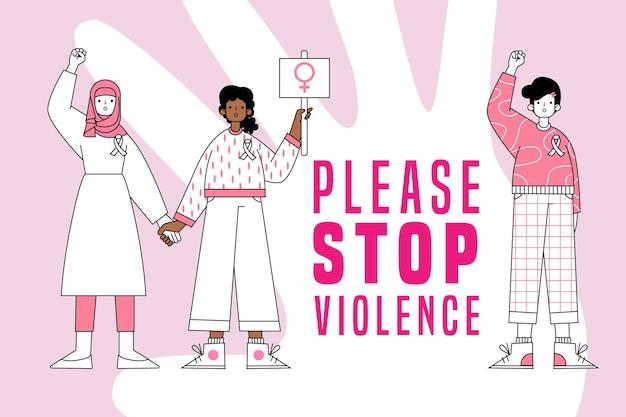 Por favor, pare com a violência contra as mulheres