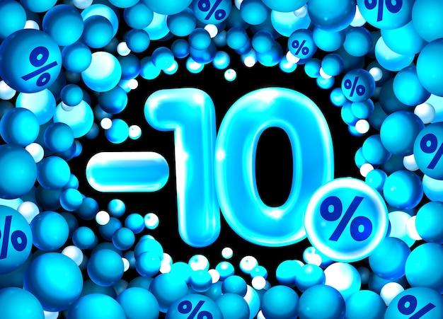 Porcentagem de desconto na composição criativa d símbolo de mega venda com decoração