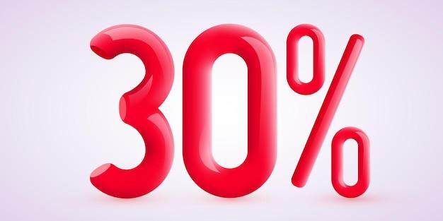Porcentagem de desconto na composição criativa d símbolo de venda com banner decorativo de venda de confetes e cartaz