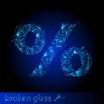 Porcentagem de vidro quebrado