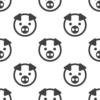 Porco, padrão sem emenda de vetor, editável pode ser usado para planos de fundo de páginas da web, preenchimentos de padrão