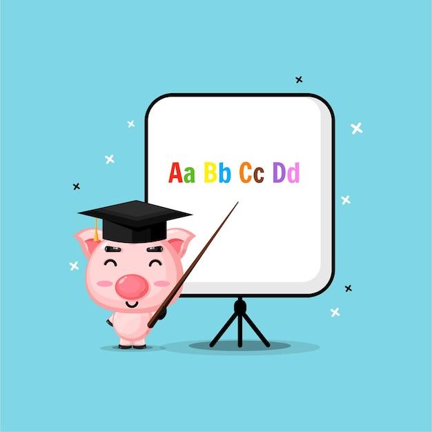 Porcos fofos tornam-se professores