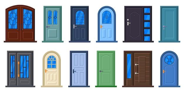 Porta da casa ou quarto para entrada e saída