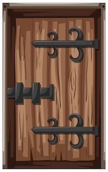 Porta de madeira em estilo medieval