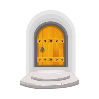 Porta de madeira medieval