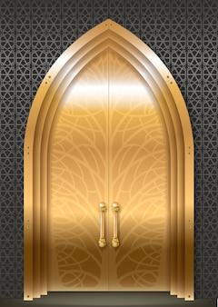 Porta dourada do palácio