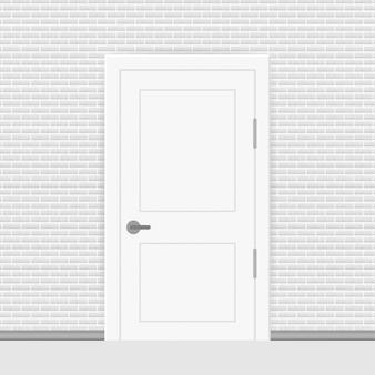 Porta fechada de extremidade aberta. interior. conceito de negócios. vista frontal. conceito de escritório em casa. sucesso nos negócios.
