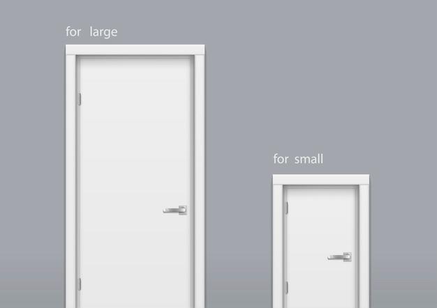 Porta grande e pequena