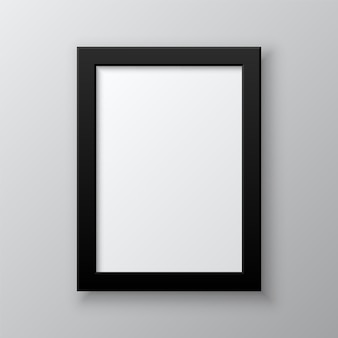 Porta-retrato em branco vertical isolado