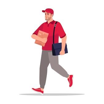 Portador de correio semi plana ilustração de cor rgb