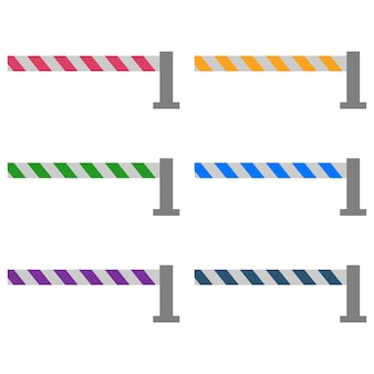 Portal de pedágio colorido / portal de trilhos
