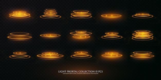Portal definido holograma de efeito de luz