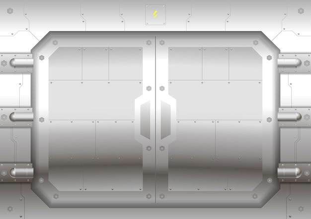 Portão deslizante de metal