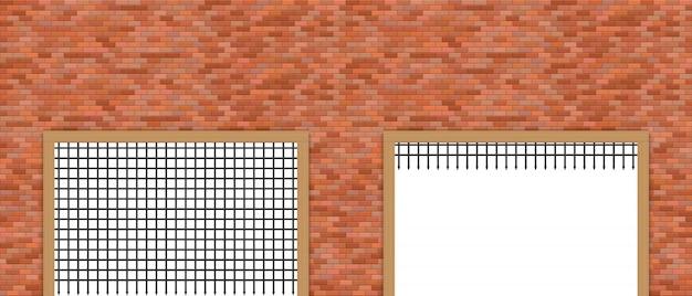 Portão do castelo medieval e ilustração da parede de tijolo