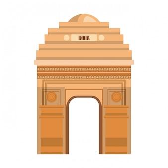 Portão do monumento deli índia design do país
