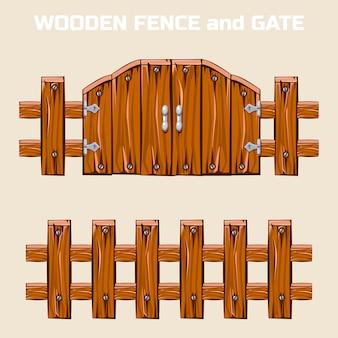 Portão e cerca de madeira