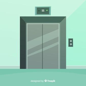 Portas de elevador fechadas