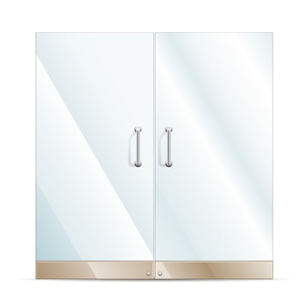 Portas de vidro transparente