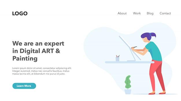 Portfólio de negócios de startup de agência criativa