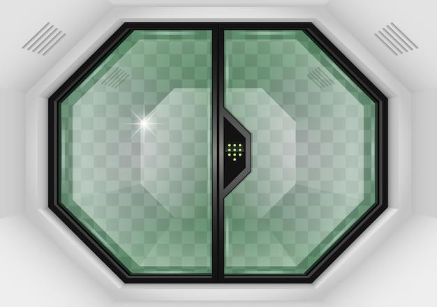 Portões de correr de vidro