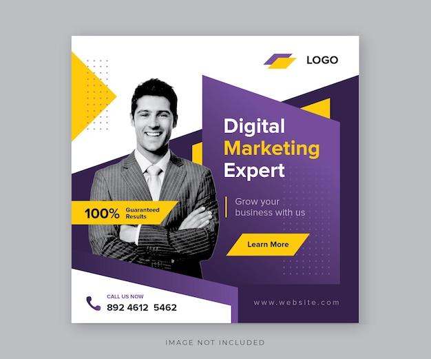 Pós-design de mídia social de marketing digital