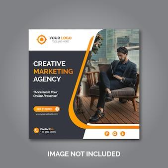 Pós-design de promoção de marketing corporativo e digital ou banner de mídia social