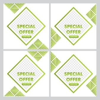 Pós-design de promoção de oferta especial. modelo de postagem de mídia social. modelo de design de uso pronto.