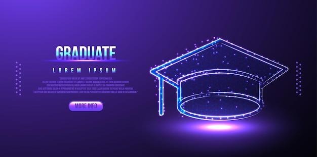 Pós-graduação, estrutura de arame poli baixa com tampa, design poligonal