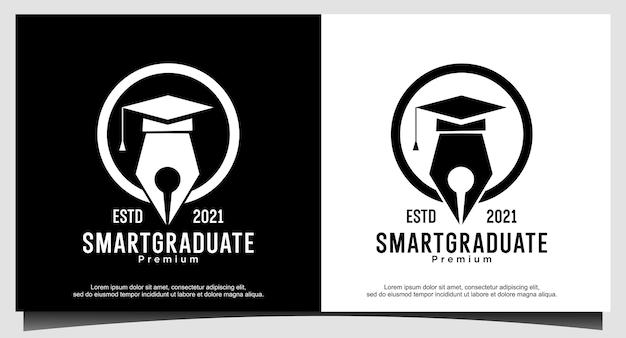 Pós-graduação inteligente para design de logotipo de educação