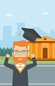 Pós-graduação vomitando o chapéu.