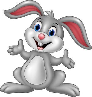 Posando de coelho bonito dos desenhos animados