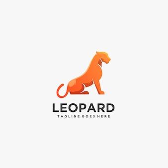 Pose de leopardo logotipo.