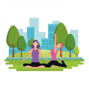Poses de ioga de mulheres