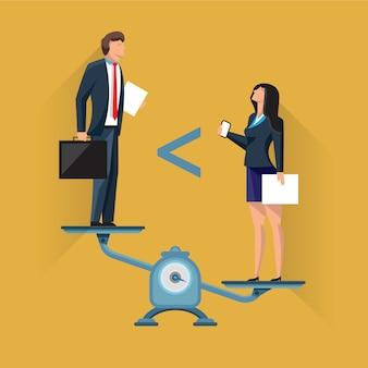 Posição desigual dos empresários na balança