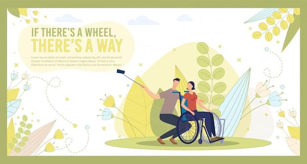 Posição otimista da vida das pessoas com deficiência