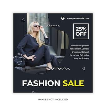 Post de banner da web de promoção de venda