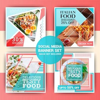 Post de instagram de comida Vetor Premium