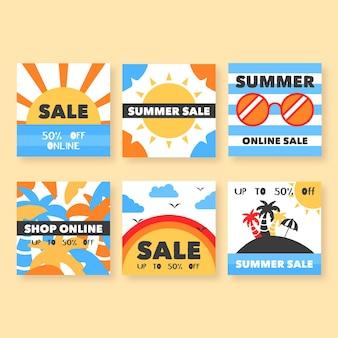 Post de instagram de venda de verão