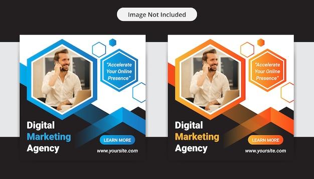 Post de mídia social da agência de marketing digital de negócios corporativos