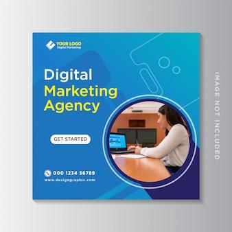 Post de mídia social de marketing de negócios digitais & banner da web