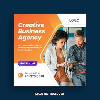 Post de mídia social de marketing de negócios digitais & banner