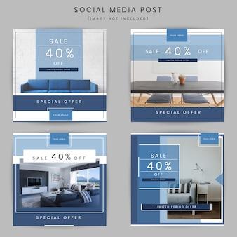 Post de mídia social de marketing de negócios