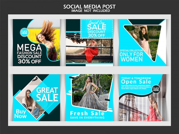 Post de mídia social de moda criativa