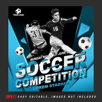 Post de mídia social para competição de futebol