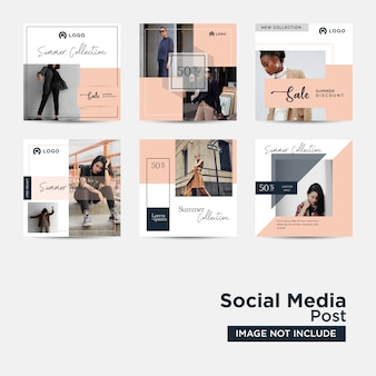 Post de mídia social para modelo de marketing digital