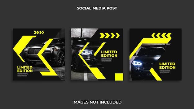 Post design automotivo do instagram