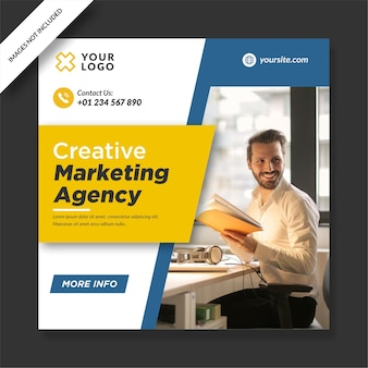 Post design do instagram da agência de marketing criativo